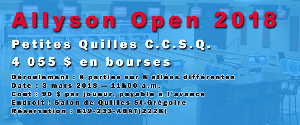 Allyson Open 2018 Une