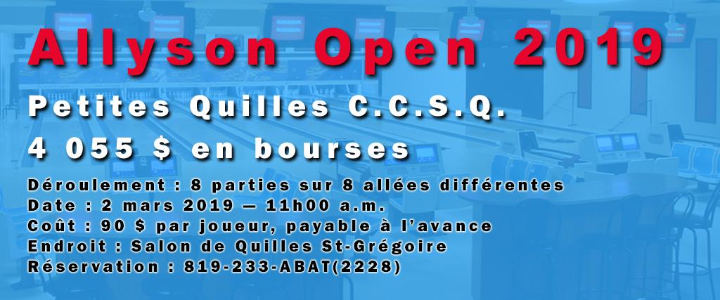 Allyson Open Une 2019